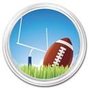 1 oz Silver Colorized Round - APMEX (Football)