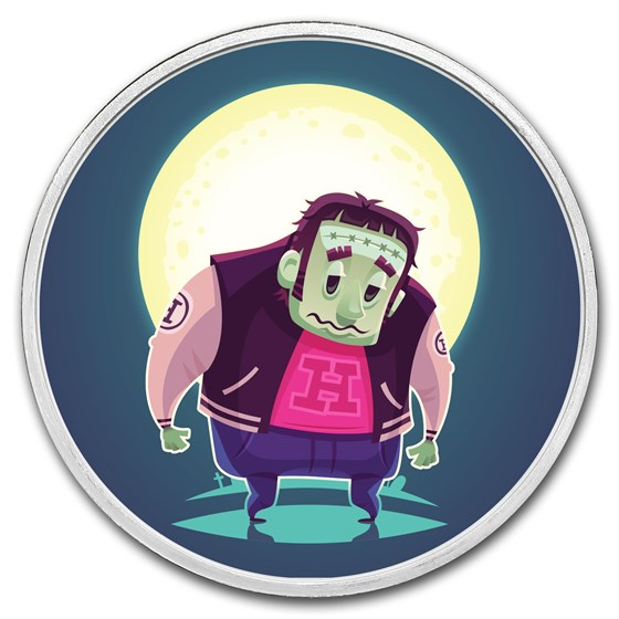 1 oz Silver Colorized Round - APMEX (Frankenstein)