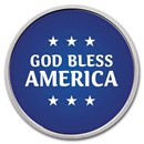 1 oz Silver Colorized Round - APMEX (God Bless America, Blue)