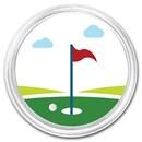 1 oz Silver Colorized Round - APMEX (Golf)