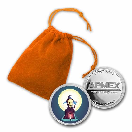 1 oz Silver Colorized Round - APMEX (Grim Reaper)