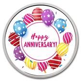 1 oz Silver Colorized Round - APMEX Happy Anniversary - Balloons
