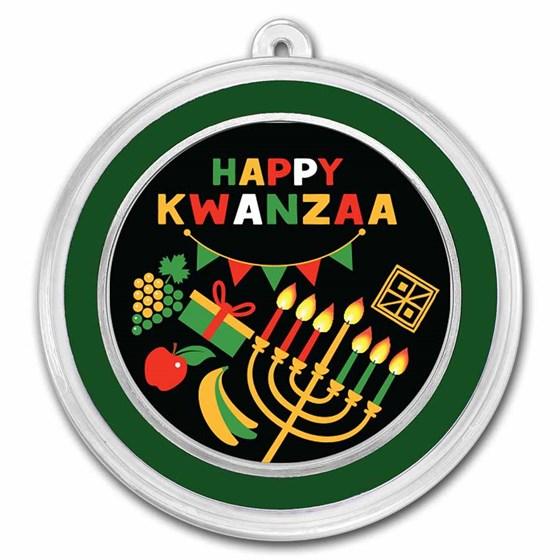 1 oz Silver Colorized Round - APMEX (Happy Kwanzaa)
