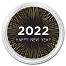 1 oz Silver Colorized Round - APMEX (Happy New Year - Modern)