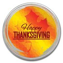 1 oz Silver Colorized Round - APMEX (Happy Thanksgiving)
