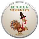 1 oz Silver Colorized Round - APMEX (Happy Turkey Day)