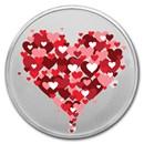 1 oz Silver Colorized Round - APMEX (Hearts Rising)