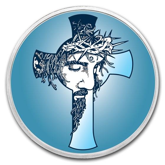 1 oz Silver Colorized Round - APMEX (Jesus Christ)