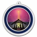 1 oz Silver Colorized Round - APMEX (Jesus In The Manger Purple)