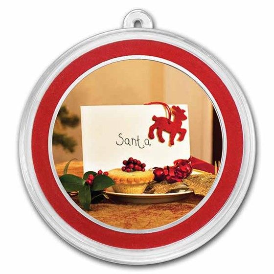 1 oz Silver Colorized Round - APMEX (Letter to Santa)