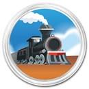 1 oz Silver Colorized Round - APMEX (Locomotive)