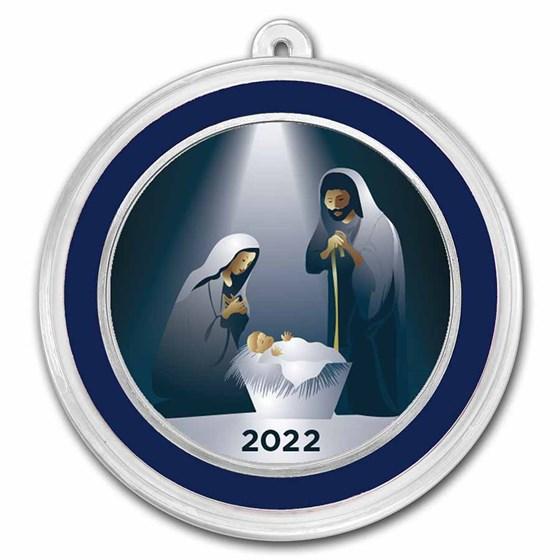 1 oz Silver Colorized Round - APMEX (Mary, Joseph, & Baby Jesus)