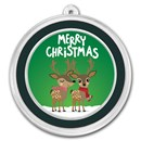 1 oz Silver Colorized Round - APMEX (Merry Christmas, Reindeer)