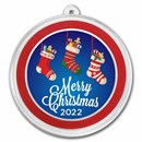 1 oz Silver Colorized Round - APMEX (Merry Christmas Stockings)