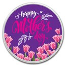 1 oz Silver Colorized Round - APMEX (Mother's Day - Tulips)