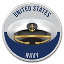 1 oz Silver Colorized Round - APMEX (Navy - Salute)