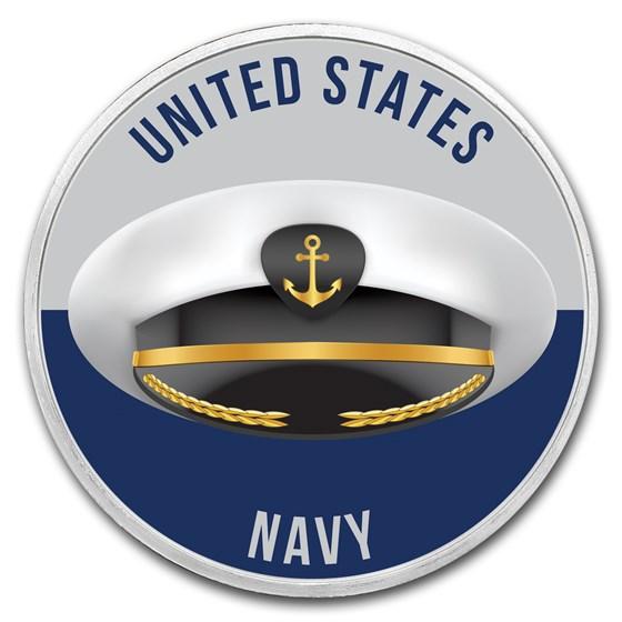 1 oz Silver Colorized Round - APMEX (Navy - Salute)