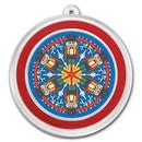 1 oz Silver Colorized Round - APMEX (Nutcracker Kaleidoscope)