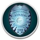 1 oz Silver Colorized Round - APMEX (Police - Badge)