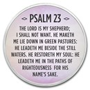 1 oz Silver Colorized Round - APMEX (Psalm 23, Lavender)