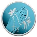 1 oz Silver Colorized Round - APMEX (Rosary Prayer)