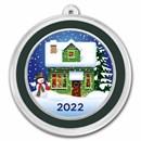 1 oz Silver Colorized Round - APMEX (Snowman & Cozy House)