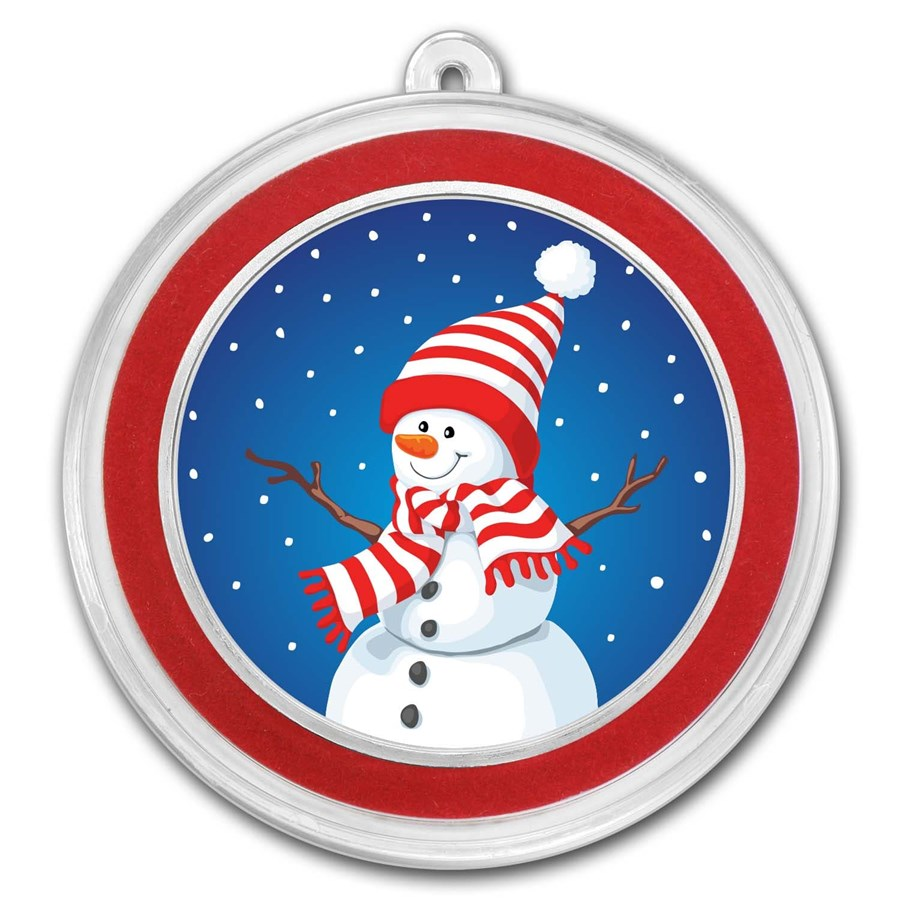 1 oz Silver Colorized Round - APMEX (Snowman)
