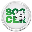 1 oz Silver Colorized Round - APMEX (Soccer, Silhouette)