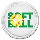 1 oz Silver Colorized Round - APMEX (Softball)