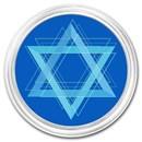1 oz Silver Colorized Round - APMEX (Star of David)