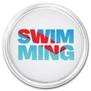 1 oz Silver Colorized Round - APMEX (Swimming)