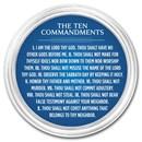 1 oz Silver Colorized Round - APMEX (Ten Commandments, Dark Blue)