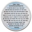 1 oz Silver Colorized Round - APMEX (Ten Commandments Sky Blue)