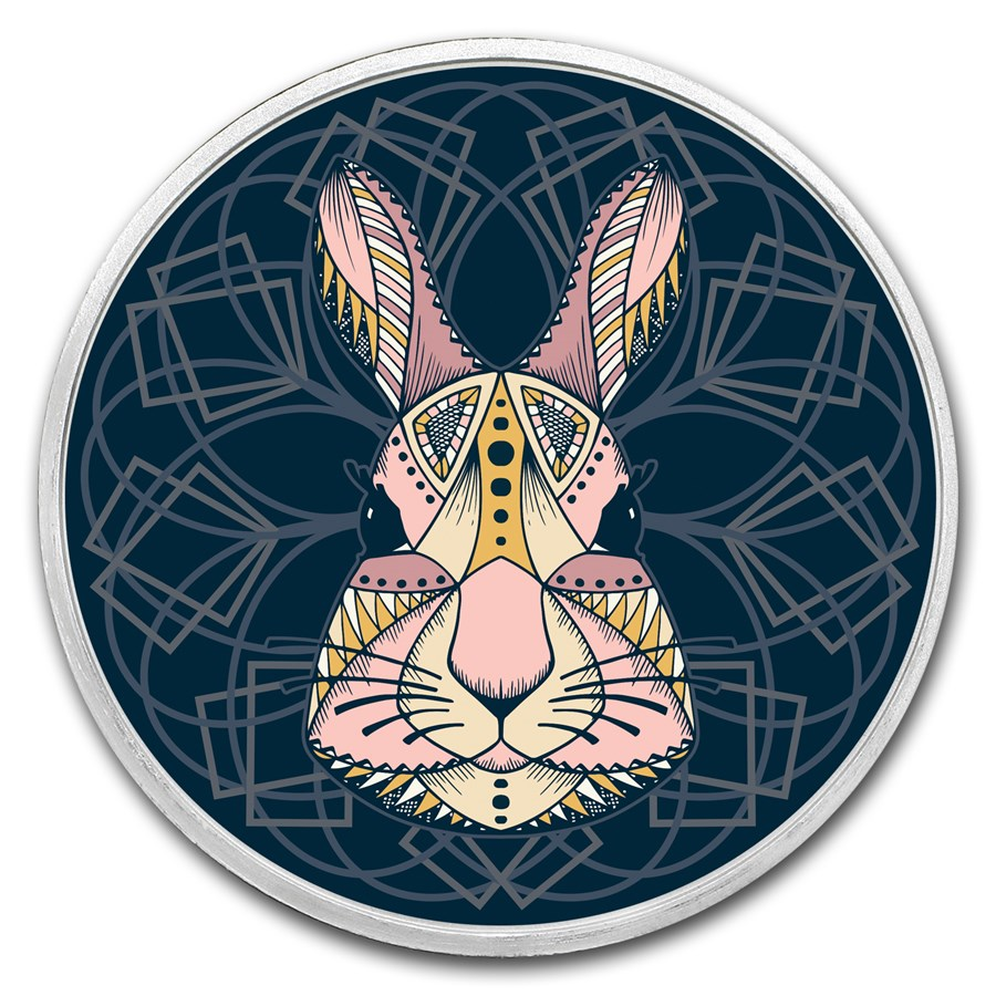 1 oz Silver Colorized Round - APMEX (The Easter Bunny)