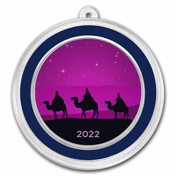 1 oz Silver Colorized Round - APMEX (Three Wise Men Purple)