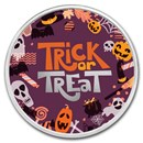 1 oz Silver Colorized Round - APMEX (Trick or Treat Collage)