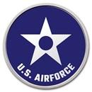1 oz Silver Colorized Round - APMEX (U.S. Air Force, Blue)
