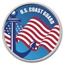 1 oz Silver Colorized Round - APMEX (U.S. Coast Guard)