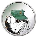 1 oz Silver Colorized Round - APMEX (U.S. Marines, Bulldog)