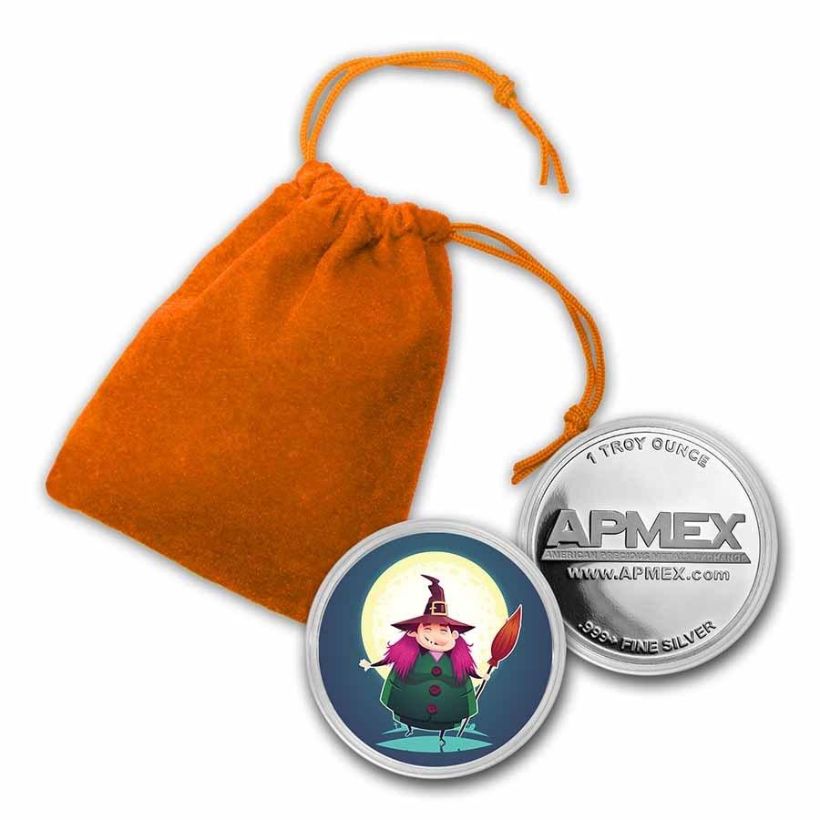 1 oz Silver Colorized Round - APMEX (Witch)
