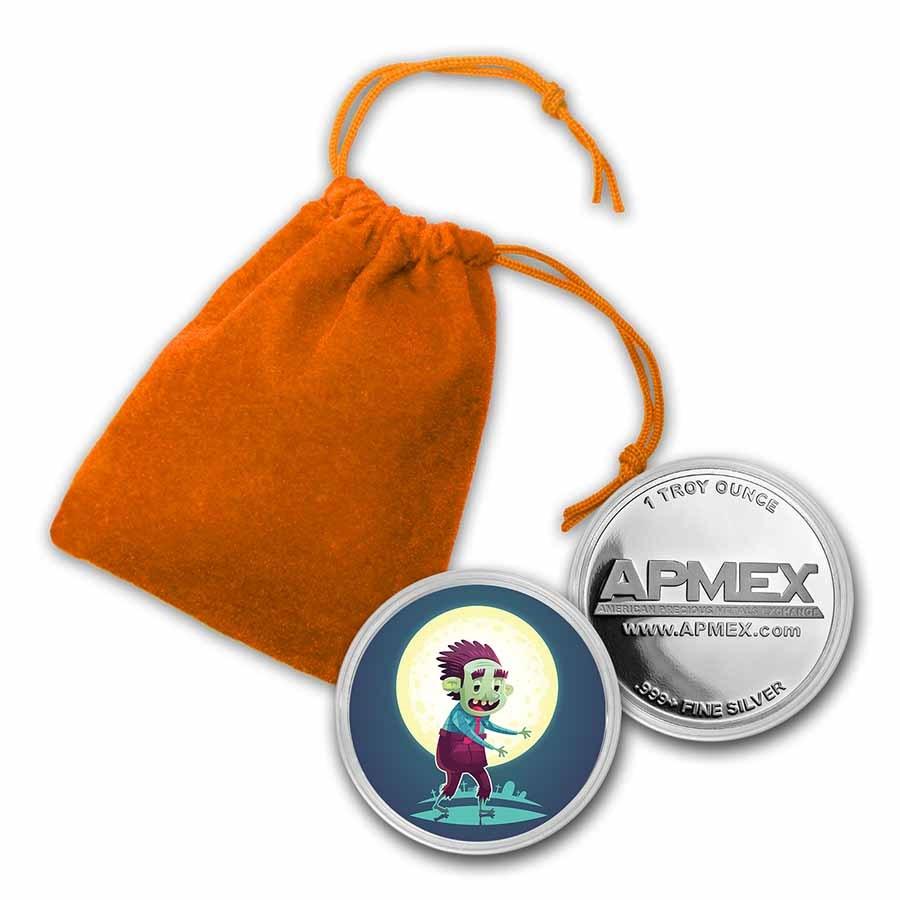 1 oz Silver Colorized Round - APMEX (Zombie)