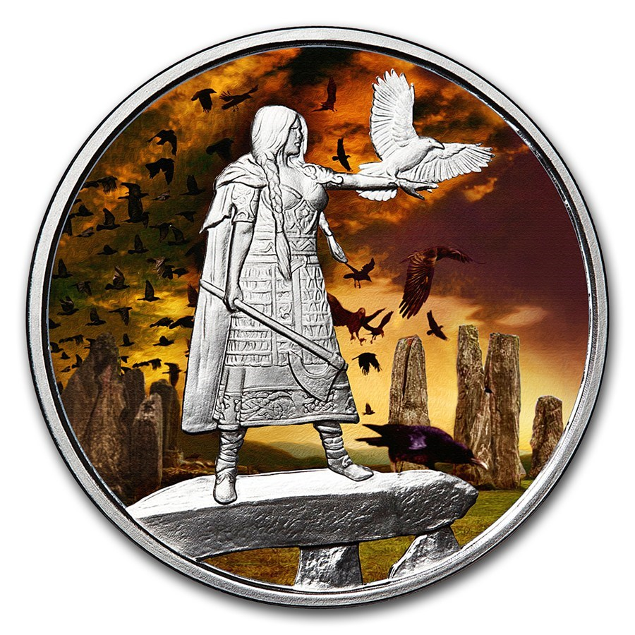 1 oz Silver Colorized Round - Celtic Lore (The Morrigan)