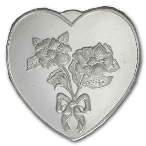 1 oz Silver Heart - Especially for You (Flowers)
