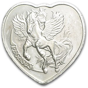 1 oz Silver Heart - For Someone Special (Pegasus)