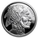 1 oz Silver High Relief Round - Buffalo