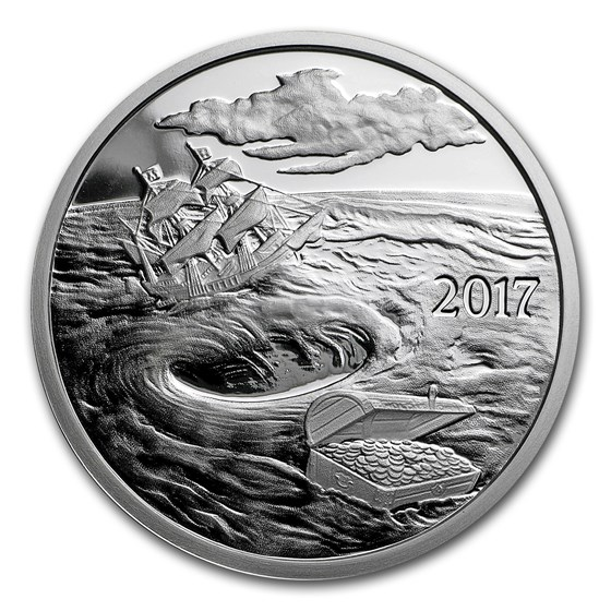 1 oz Silver Proof Round - 2017 Silverbug Island Whirlpool