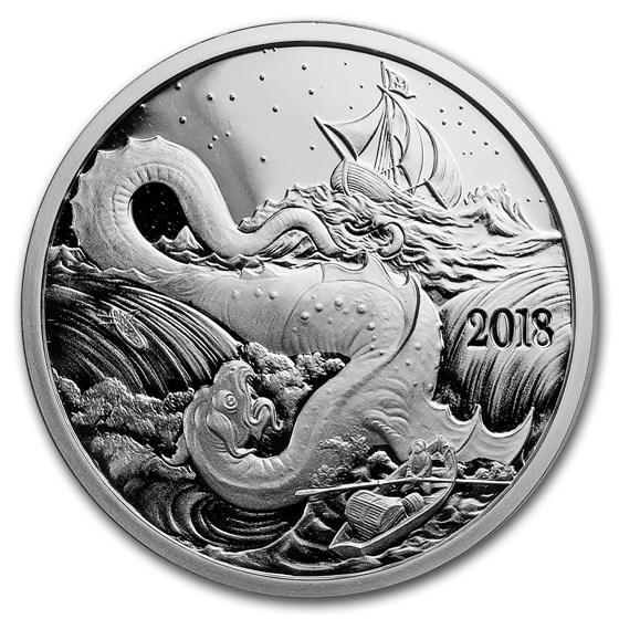 1 oz Silver Proof Round - 2018 Silverbug Island Leviathan