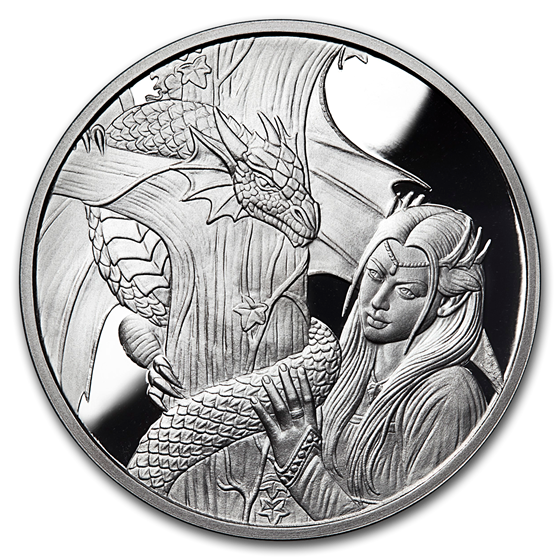 1 oz Silver Proof Round - Anne Stokes Dragons: Kindred Spirits