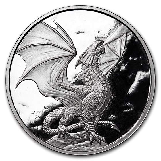 1 oz Silver Proof Round - Anne Stokes Dragons: Noble Dragon