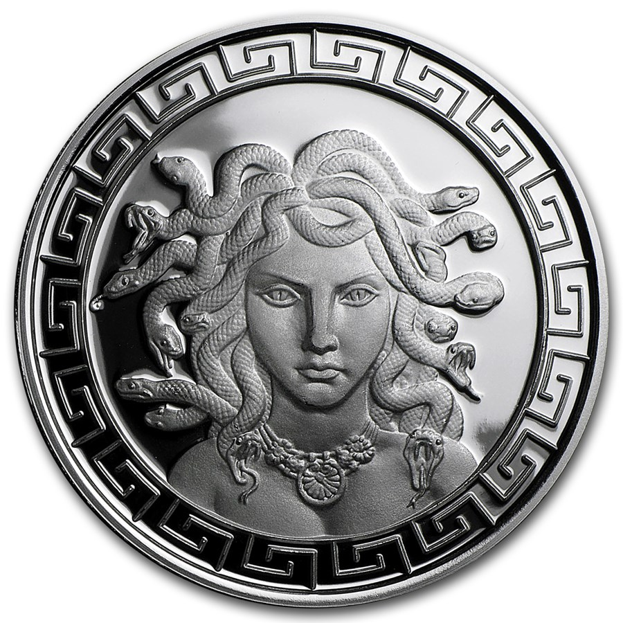 1 oz Silver Proof Round - Classic Greek Medusa